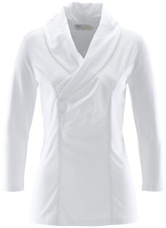 Schalkragenbluse, bpc selection, weiss