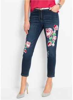 7/8-Jeans mit Blumendruck, bpc selection