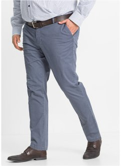 Chino-Hose Minimalmuster Slim Fit, bpc selection, blau gemustert