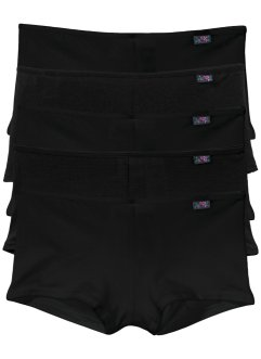 Lot de 5 shorties, bpc bonprix collection, noir