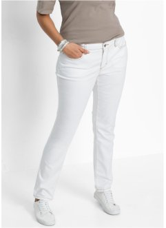 Jean  slim power stretch, John Baner JEANSWEAR, blanc twill