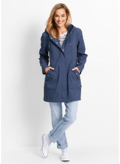 Softshell-Parka, bpc bonprix collection, indigo meliert