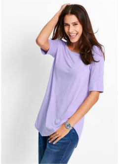 Halbarm-Longshirt, bpc bonprix collection, hellviolett