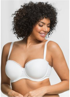 Soutien-gorge à balconnet, bpc bonprix collection, blanc