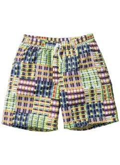 Badeshorts Jungen, bpc bonprix collection, blau kariert