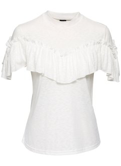 Shirt mit Volants, BODYFLIRT, creme