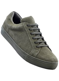 Ledersneaker, bpc bonprix collection, oliv