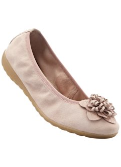 Ballerines en cuir largeur G, bpc selection, rose clair
