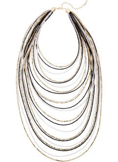 Collier, bpc bonprix collection, blanc/noir/doré