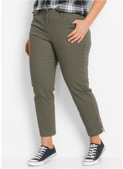 Pantalon extensible 7/8 avec fentes, bpc bonprix collection