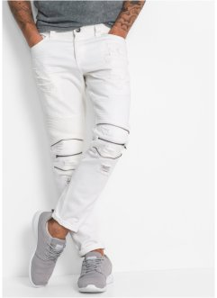 Jeans TAPERED, RAINBOW, weiss