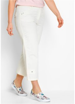 Pantalon extensible 7/8, bpc bonprix collection, blanc cassé