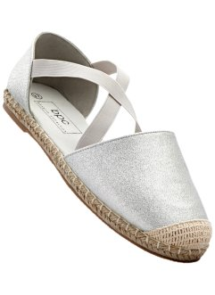 Espadrille, bpc bonprix collection, silber