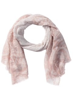 Schal Pastell-Paisley, bpc bonprix collection, rosa/weiss