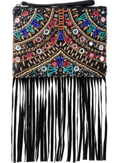 Clutch mit Perlen, Spiegeln & Fransen, bpc bonprix collection