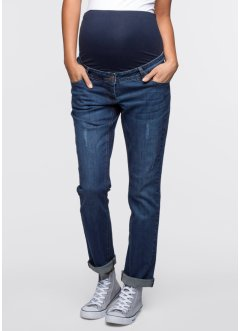 Umstandsjeans Boyfriend, gekrempelt, bpc bonprix collection, darkblue stone
