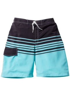 Badeshorts Jungen, bpc bonprix collection, türkis/grau