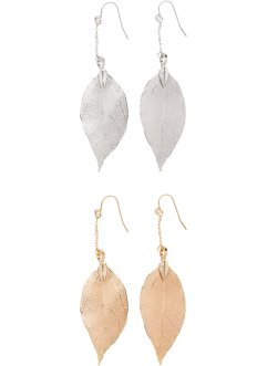 2 paires de boucles d'oreilles, bpc bonprix collection