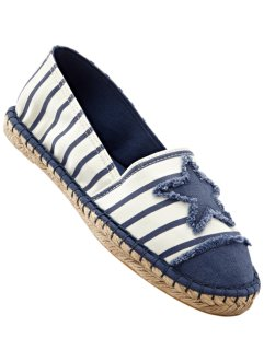Espadrille, bpc bonprix collection, beige/jeansblau