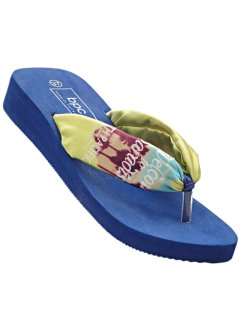 Tongs, bpc bonprix collection, citron clair/bleu nuit