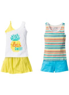 Top + Shorts + Rock (4-tlg. Set), bpc bonprix collection
