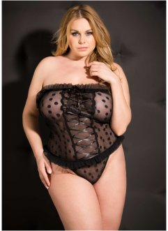 Top+String (2tlg. Set), Venus, schwarz