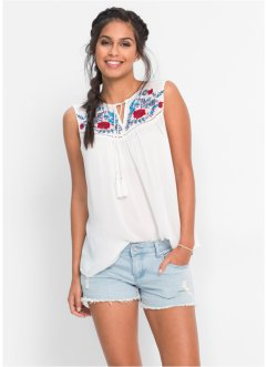 Top-blouse avec broderies, BODYFLIRT