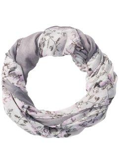 Eacute charpe-tube  agrave  motif floral et rayure unie, ... d4aed2c0108