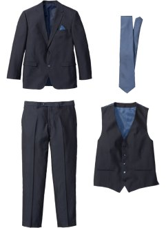 Costume 4 pièces : veste, pantalon, gilet, cravate, bpc selection