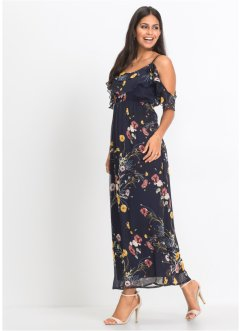 Cold-Shoulder Maxikleid mit Blumenprint, BODYFLIRT