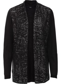 Strickjacke mit Glitzerprint, BODYFLIRT