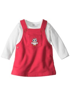 Baby Langarmshirt + Sweatkleid (2-tlg.) Bio-Baumwolle, bpc bonprix collection