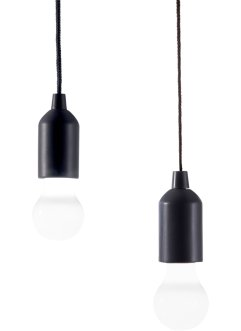 "LED-Ziehleuchte ""Black & White"" (2er-Pack), bpc living"