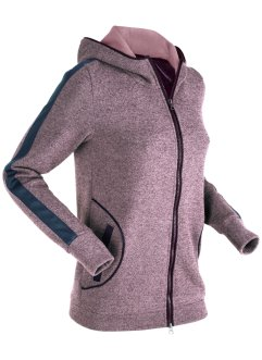 Sweatjacke mit Details in Leder-Optik, langarm, bpc bonprix collection