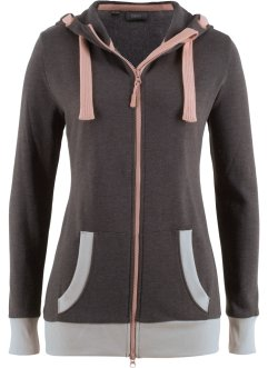 Kuschelige Sweatjacke, langarm, bpc bonprix collection