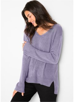 Oversized Pullover mit Schlitz, bpc bonprix collection