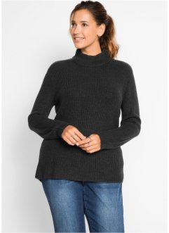 Gerippter Rollkragenpullover, bpc bonprix collection