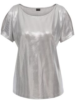 Glitzershirt mit Cut-Out, BODYFLIRT