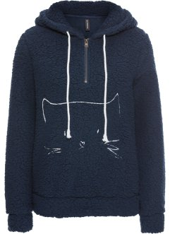 Teddyfleece Sweat mit Stickerei, RAINBOW
