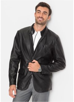 Veste de costume en synthétique imitation cuir Regular Fit, bpc selection