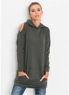 Sweatshirt mit Cut-Out-Shoulder, RAINBOW