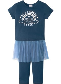 T-shirt avec tulle + legging 3/4 (Ens. 2 pces.), bpc bonprix collection