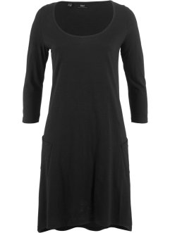 Baumwoll-Flammgarn-Shirtkleid, 3/4-Arm, bpc bonprix collection