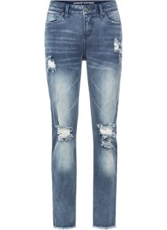 Boyfriend-Jeans mit Destroyed-Details, RAINBOW