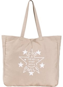 Sac shopper en toile de coton, bpc bonprix collection