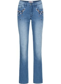Jean extensible brodé, STRAIGHT, John Baner JEANSWEAR