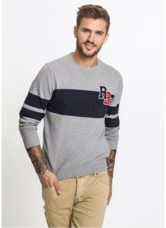 Pullover aus recycelter Baumwolle Slim Fit, RAINBOW