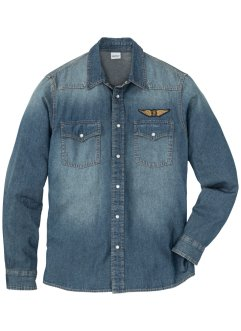 Chemise en jean avec application Slim Fit, John Baner JEANSWEAR