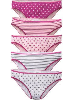 Lot de 5 slips en coton bio, bpc bonprix collection