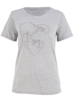 T-shirt avec broderie, bpc bonprix collection